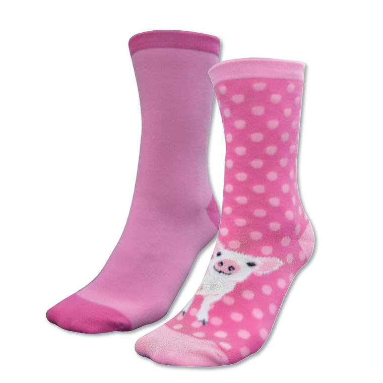 HOMESTEAD SOCKS - TWIN PACK PINK (PIGLET)