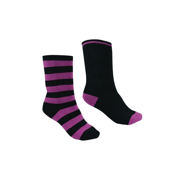 THERMAL SOCKS - TWIN PACK PURPLE ORCHID/BLACK