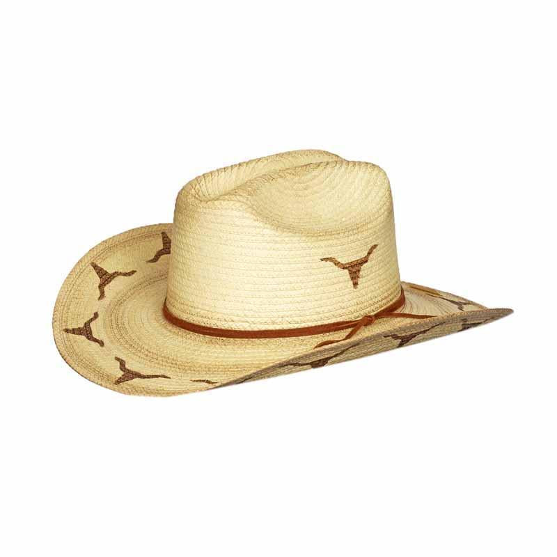 Sunbody Hats - Kids Cattleman Longhorn Distressed One Size Fits All