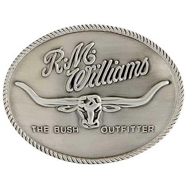 R.M.Williams Silver Logo Buckle