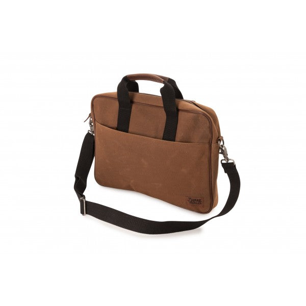 Dry Wax Cotton Laptop Bag Walnut