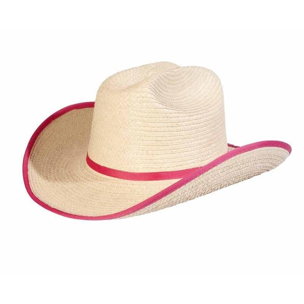 Sunbody Hats Kids Cattleman Pink Bound Edge One Size Fits All
