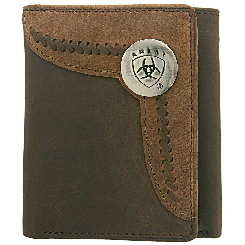 Tri fold Wallet- Brown /Lite-Tan WLT3103A