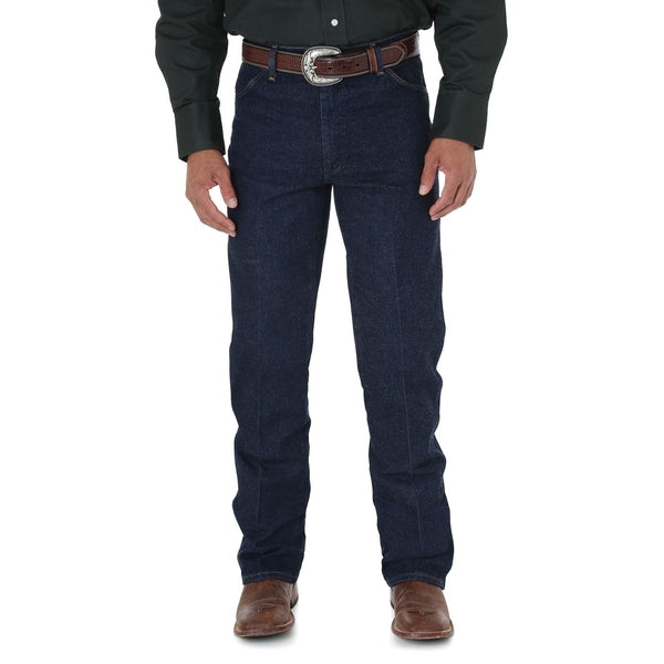 Mens Cowboy Cut Stretch Reg Fit 34Leg Heavyweight Jean Navy Stretch