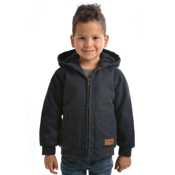 Boys Canvas Jacket Dark Navy