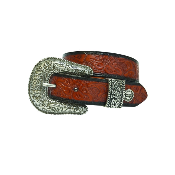 KIDS TOOLED BELT BROWN
