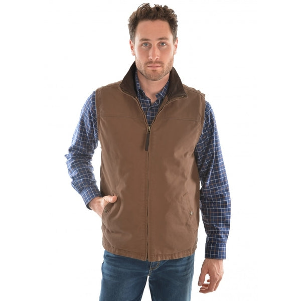 Mens TC Canvas Vest Dark Tan