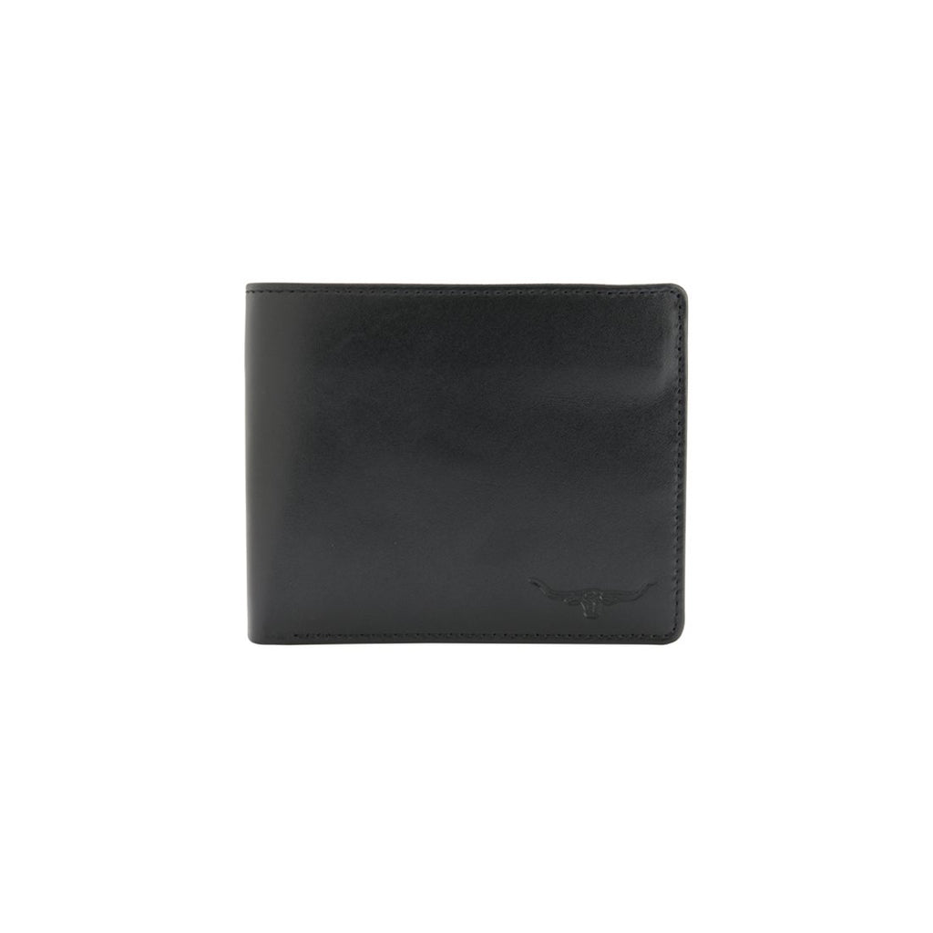 Tri-Fold Wallet Yearling Leather Black