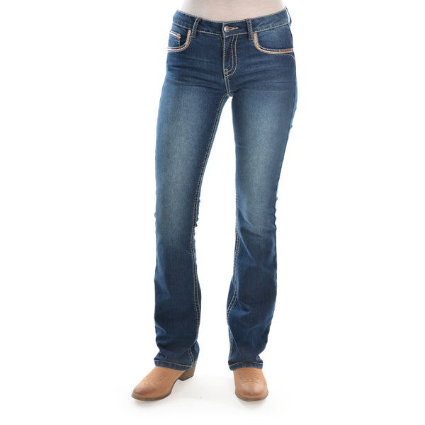 Womens Emma Boot Cut Jean 32Leg Ingigo