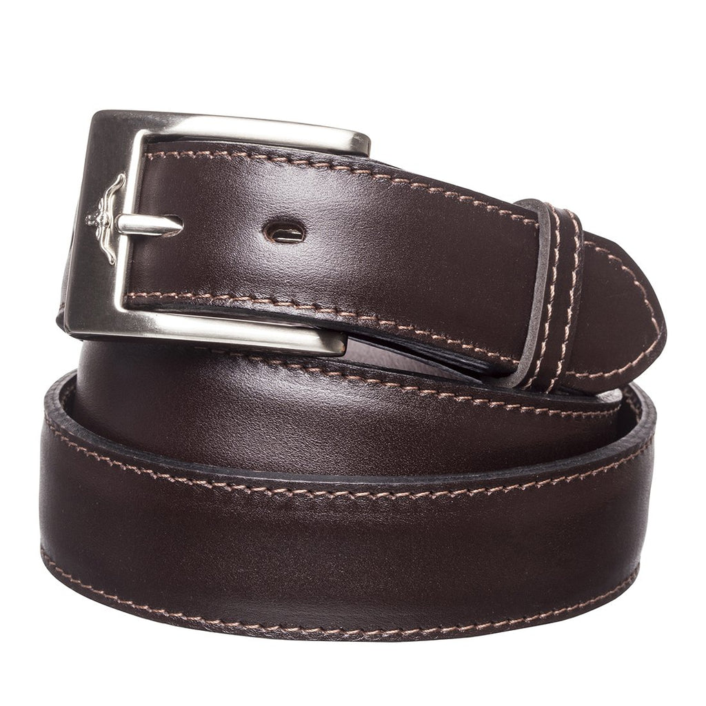 Mens Dress Belt Chestnut