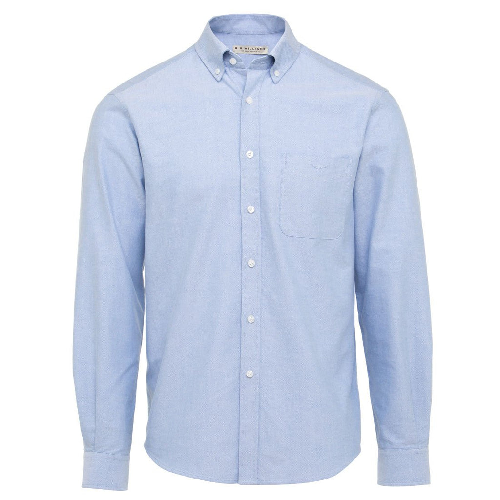 R.M. Williams Collins Shirt - Light Blue