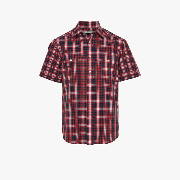 Fraser Shirt Navy White Red