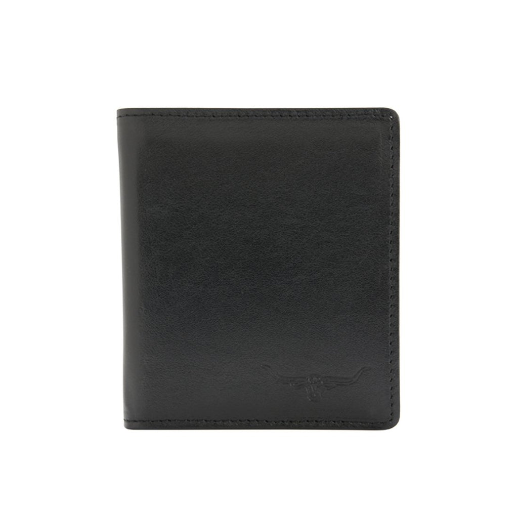 Tri-Fold Wallet Kangaroo Leather Black