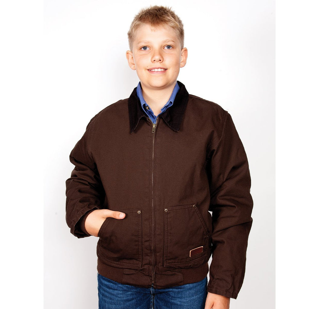 Kid's Junior Diamantina Jacket Chocolate