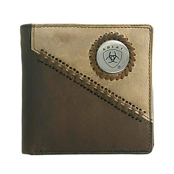 Ariat Men's Bi Fold Wallet - Brown/Fawn