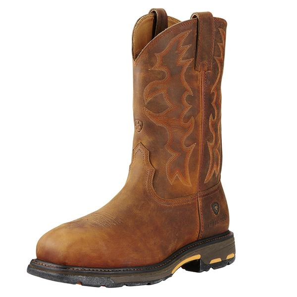 Ariat Men's Workhog Steel Toe Boot Premium - Toast