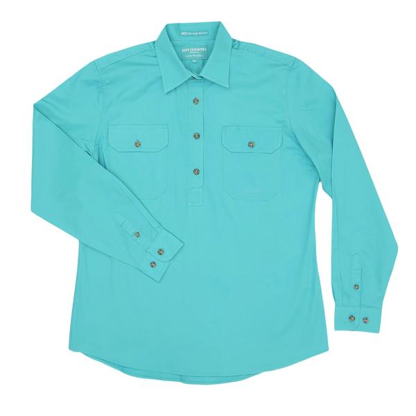 Just Country Women's Jahna Workshirt - Turquoise