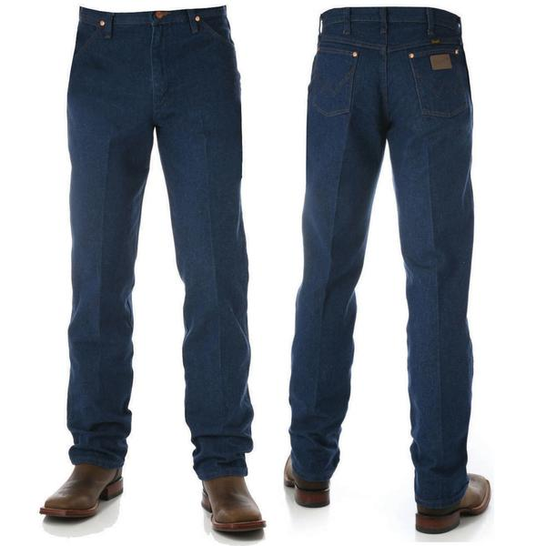 "Wrangler Men's Cowboy Cut Original Fit Jean Prewashed Indigo 32"" Leg"