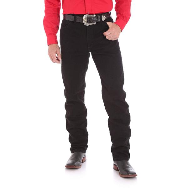 "Wrangler Mens Cowboy Cut Original Fit Shadow Black 36"" Leg"