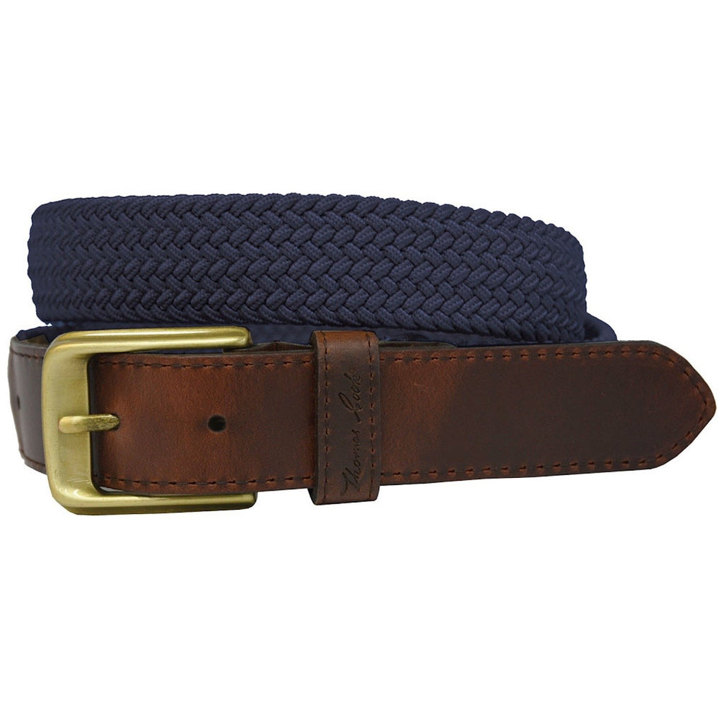 COMFORT WAIST BELT NAVY/DARK BROWN