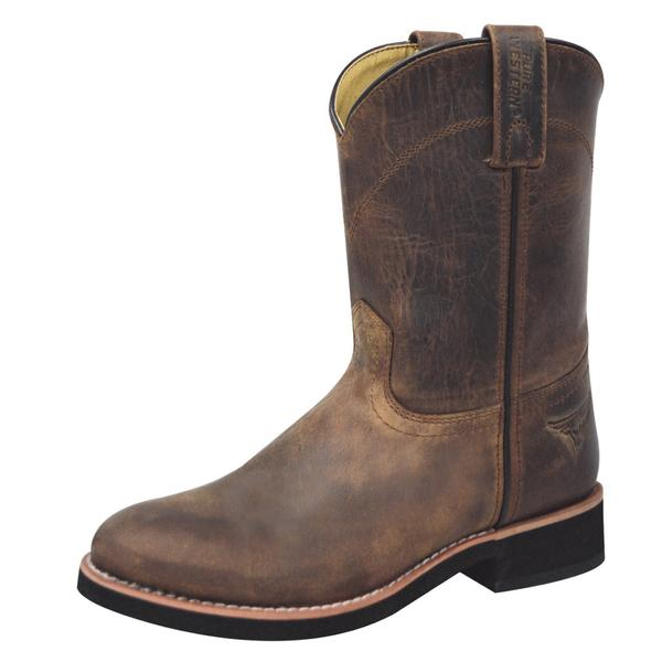 Pure Western Cooper Children - Oiled Distress Brown