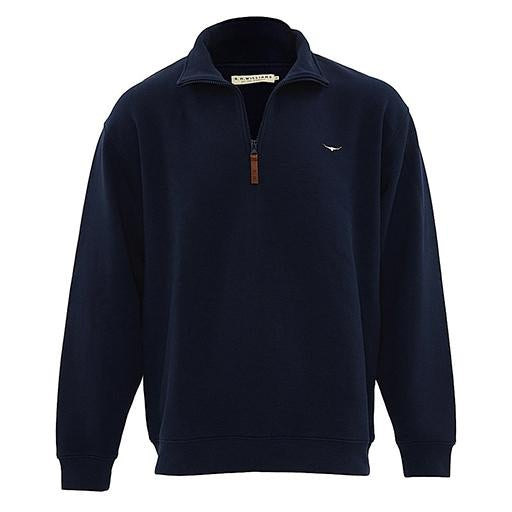 R.M. Williams Men's Mulyungarie Fleece Jumper Navy