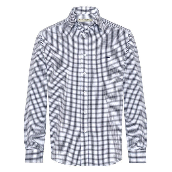 R.M. Williams Collins Shirt - Navy/White Check