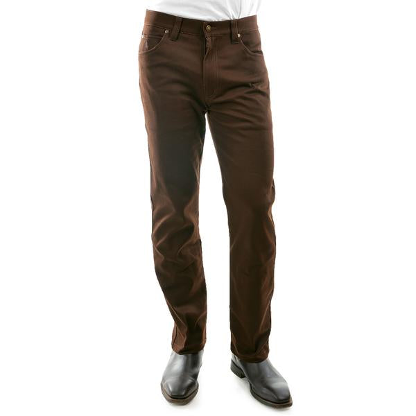 "Thomas Cook Men's Stretch Stockman mid-reg-straight 32"" leg - Dark Brown"