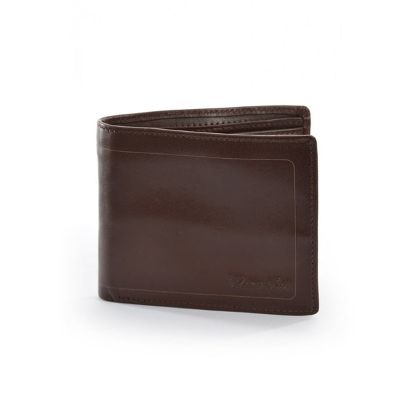 MENS LEATHER EDGED WALLET LIGHT BROWN ALL