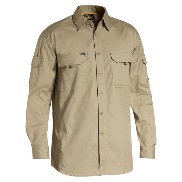 Mens L/S X-Airflow Work Shirt Khaki