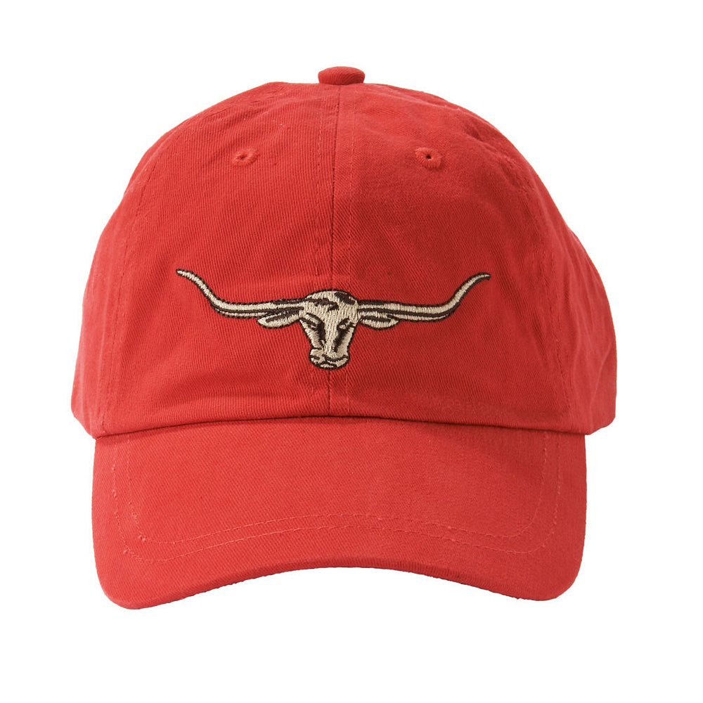 STEERS HEAD LOGO CAP - RED