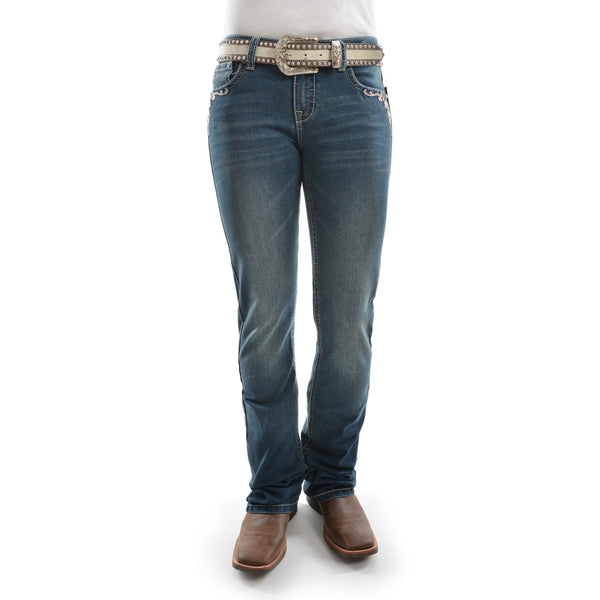 Pure Western Womens Carolina Relaxed Rider Jean 36 Leg Storm