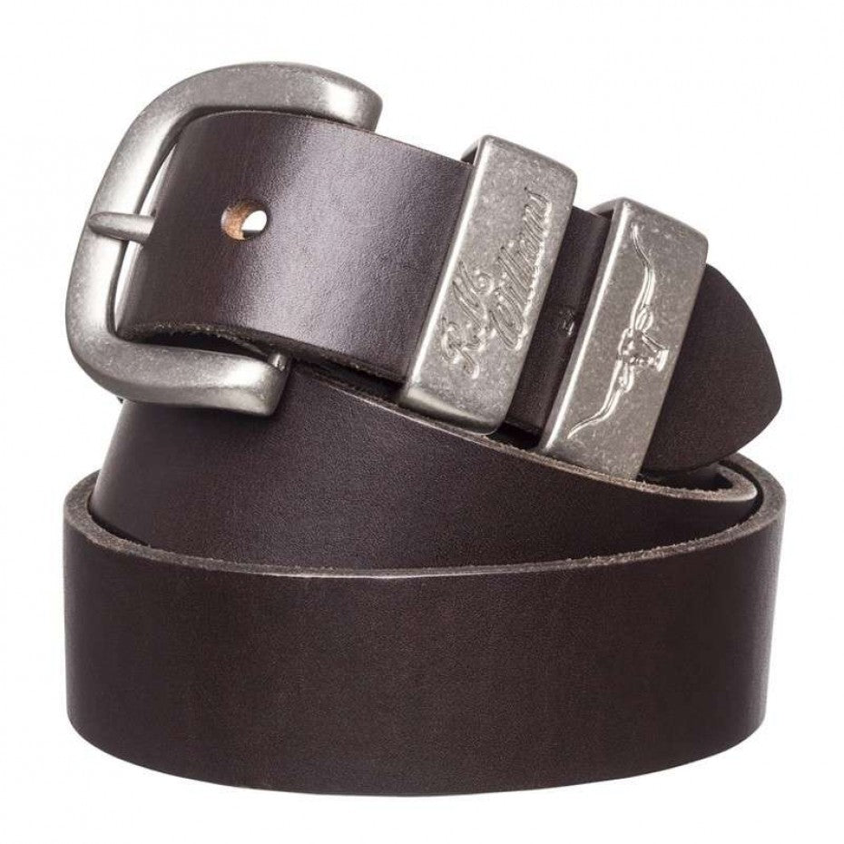 "R.M. Williams 1 1/2"" Solid Hide Belt - Chestnut"