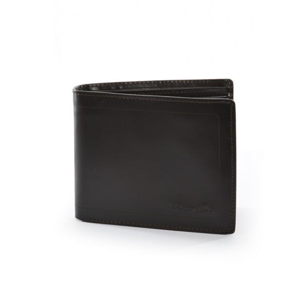 MENS LEATHER EDGED WALLET DARK BROWN ALL