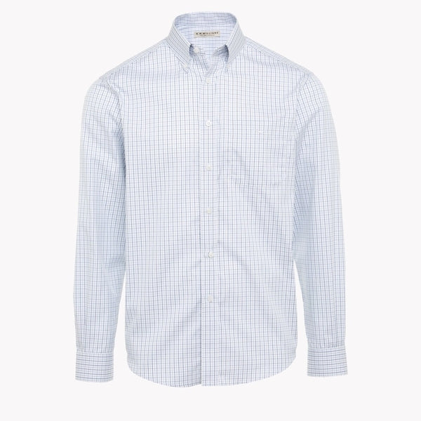 Milton Shirt M LS Reg White.Blue