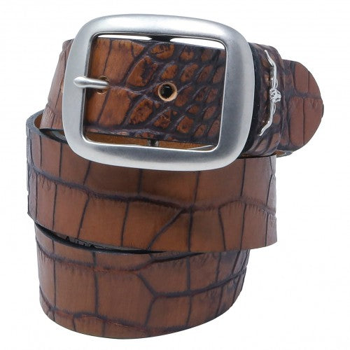 Men's R.M. Williams Croc Print Belt