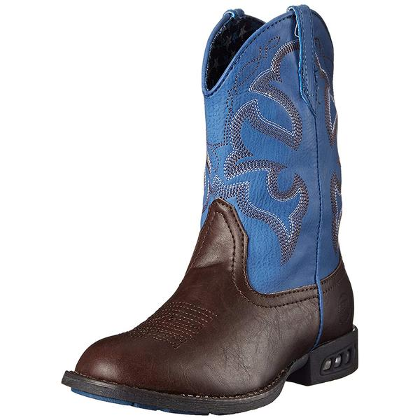 Roper Kids Boots Lightning - Brown/Blue