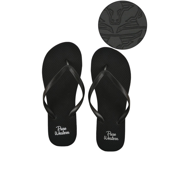 Kylie - Womens Thongs Black