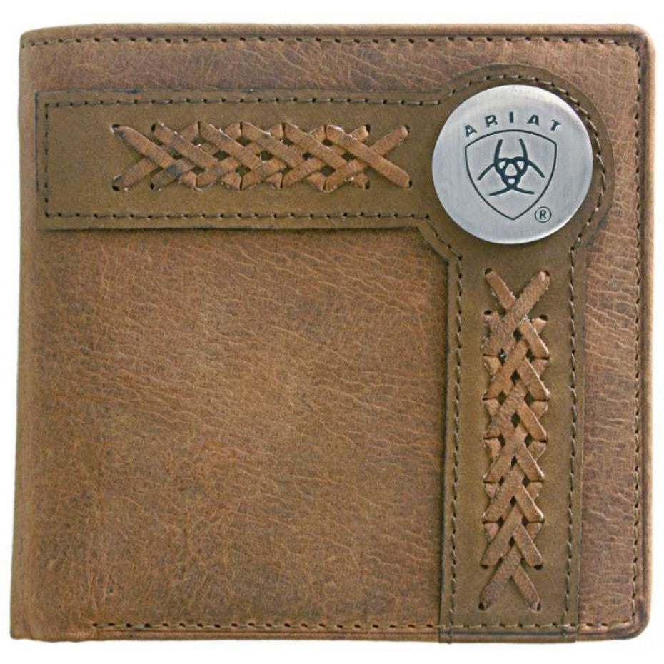 Ariat Men's Bi Fold Wallet - Chestnut WLT2102A