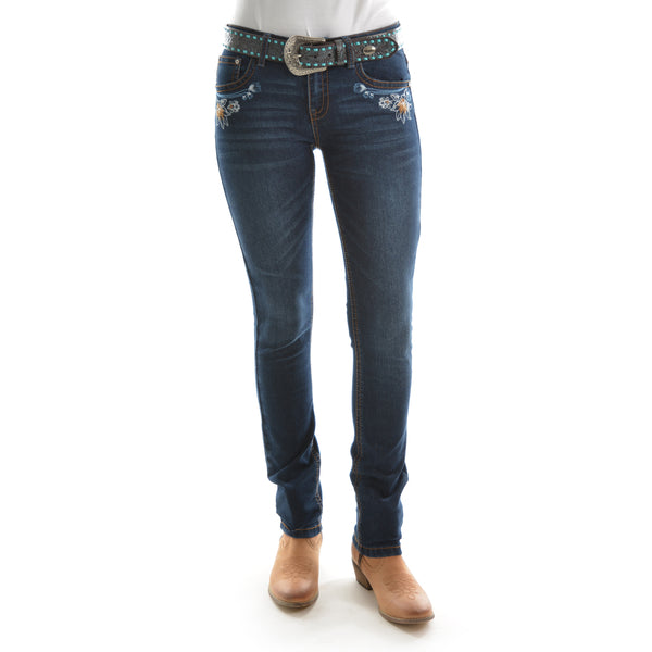 Pure Western Womens Willow Skinny Leg Jean Darkest Night