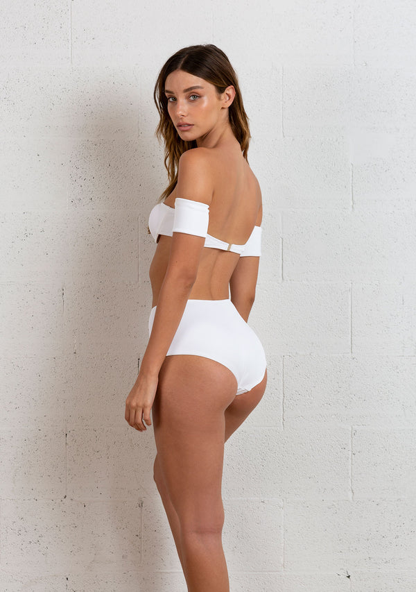 OFF THE SHOULDERS BIKINI | WHITE