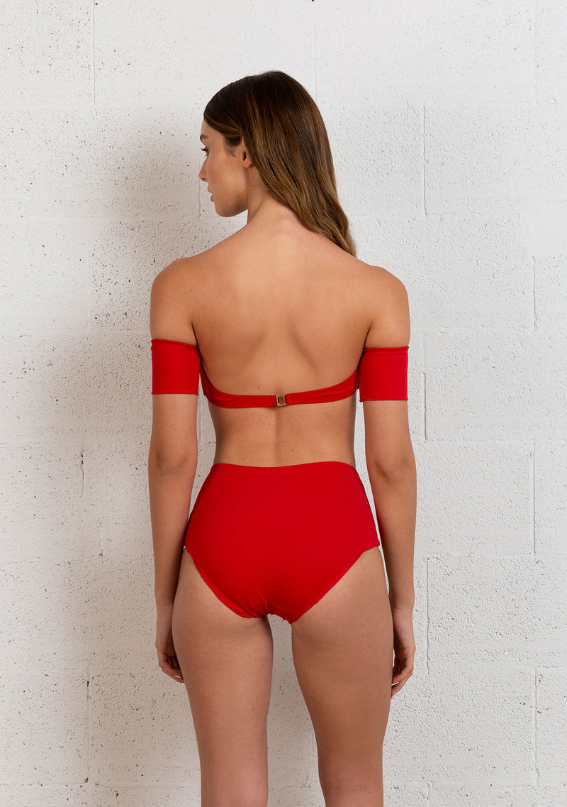 BIKINI OFF THE SHOULDERS | RED
