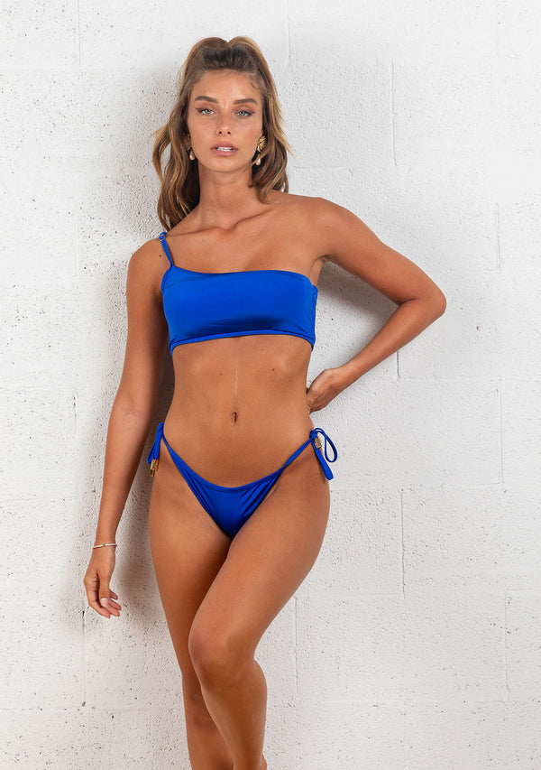 ONE SHOULDER BIKINI | BLUE