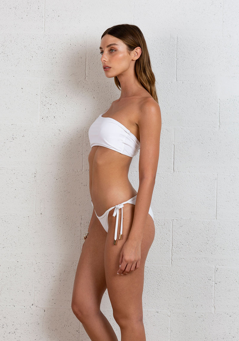 ONE SHOULDER BIKINI | WHITE