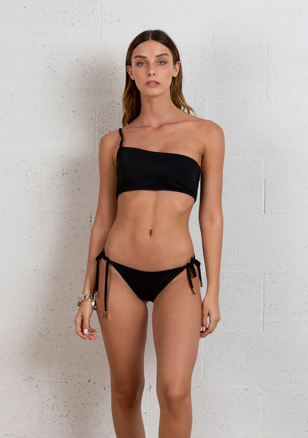 ONE SHOULDER BIKINI | BLACK