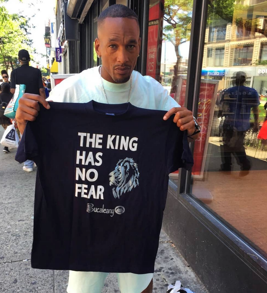 Korey King Wise handed out gifts to children in Harlem,