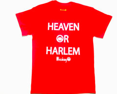 """Heaven Or Harlem"" Bucaleany Tshirt in Red"