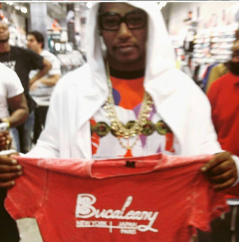 Camron repping Bucaleany Clothing