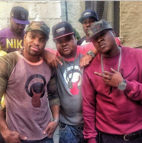 loaded lux fred da god son Jadakiss wearing bucaleany clothing