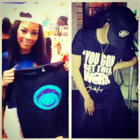 Teyana Taylor repping bucaleany t